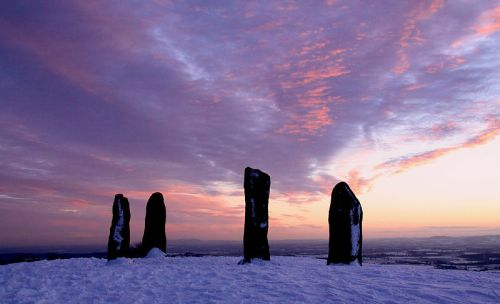 clent_standing_stones_winter_sunset